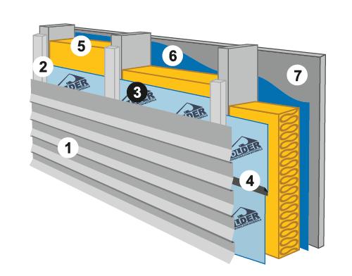 Схема монтажа на каркасную стену